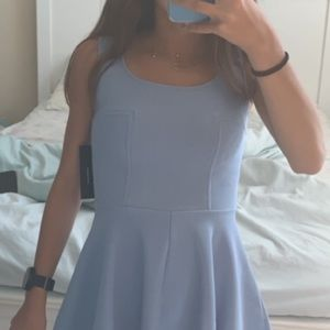 Lulus light blue skater dress size can